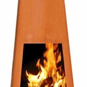 Vilos XL Corten Garten-Feuer Terrassen-Feuer Feuerstelle Garten-Kamin Kamin-Ofen