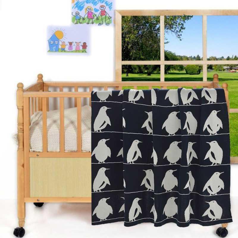 Pingu Decke Babydecke Kinderdecke Baby Kinder Kuscheldecke
