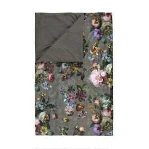 Essenza Tagesdecke Fleur Taupe Grau Quilt Überwurf Blumen Blüten