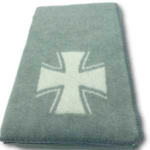 "Wolldecke Militärdecke Armeedecke""Eisernes Kreuz"" Tagesdecke"