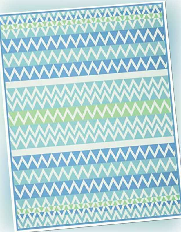 Biederlack Colour Cotton Decke 150x200 zickzack aqua