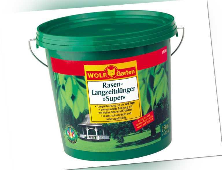 """WOLF-GARTEN Rasen-Langzeitdünger """"Super"""" für eine Rasenfläche von ca. 250 qm"""