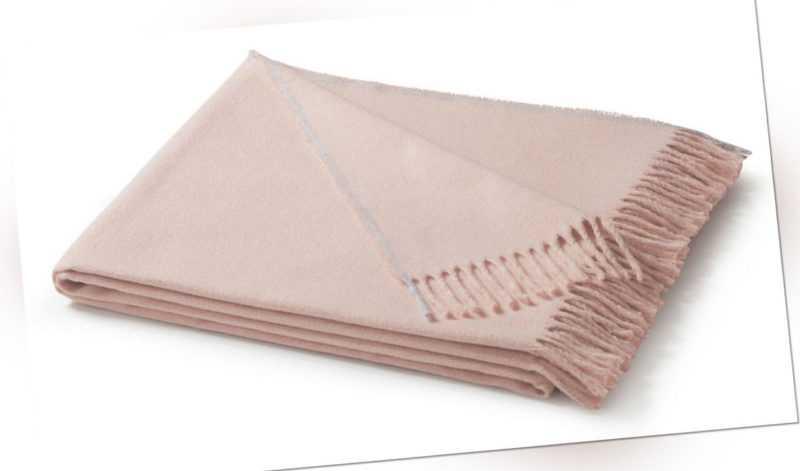 Biederlack Sommer Plaid Heimdecke Wohndecke 130x170 cm  rosa uni