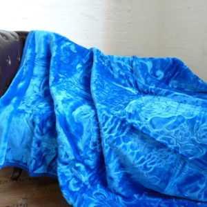 XXL Luxus Kuscheldecke Tagesdecke Wohndecke Decke Plaid blau