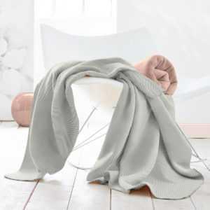 Biederlack Contrast & Style Decke - herringbone grey |