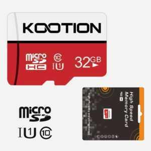 Kootion 2 Stück 32G Mikro SD TF Card Class10 Speicherkarten  SDHC Card  80MB/s