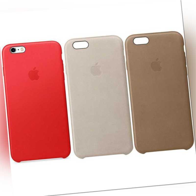 Original Apple iPhone 6 6S Plus Leder Schutz Hülle Case Cover Originalverpackung
