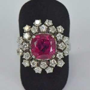Ring Turmalin Diamant Brillant 585 Gold