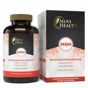 MSM 365 Tabletten á 1000mg + Acerola Vitamin C 99,9% Methylsulfonylmethan Vegan
