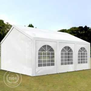 Partyzelt Pavillon 4x6m Bierzelt Festzelt Gartenzelt Vereinszelt Markt Zelt weiß