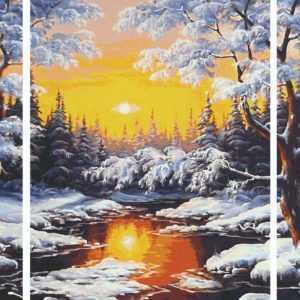 Schipper 609260786 Malen nach Zahlen Triptychon Ein Wintertraum