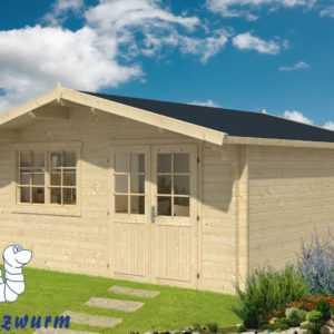 44mm Gartenhaus Hendrick Blockhaus 500x500cm Holzhaus Gerätehaus Holz