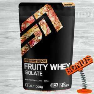 ESN Fruity Whey Isolate Protein 1000g Beutel + Bonus Eiweiss Molkeprotein Pulver