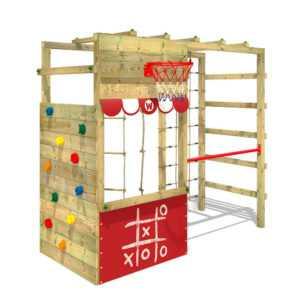 Klettergerüst Spielturm WICKEY Smart Action Kinder Turngerüst rot Kletterturm