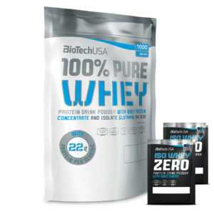 Biotech USA 100% Pure Whey 1000g Eiweiß Protein BCAA Aminosäure + Proben
