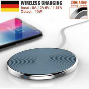 Qi Wireless Ladestation Ladegerät Induktion iPhone 11 Pro XS Max XR X 8 Samsung
