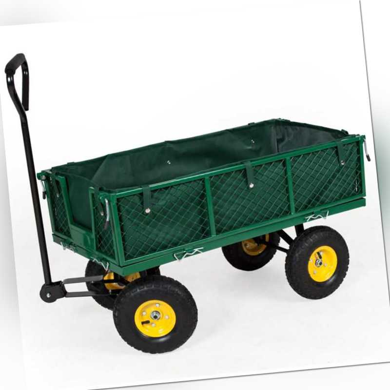 Transportkarre Bollerwagen Handwagen Transportwagen Gerätewagen + Plane 350kg