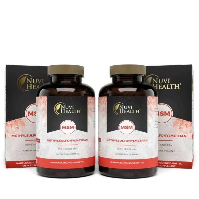 MSM 730 Tabletten á 1000mg + Acerola Vitamin C 99,9% Methylsulfonylmethan Vegan