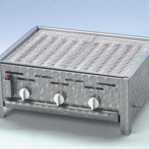 Edelstahl-Gastrobräter (Propan-Gasgrill) mit Grillrost - Made in Germany