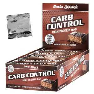 (22,60 Euro/Kg) Carb Control Riegel 15 x 100g von Body Attack + Produktprobe