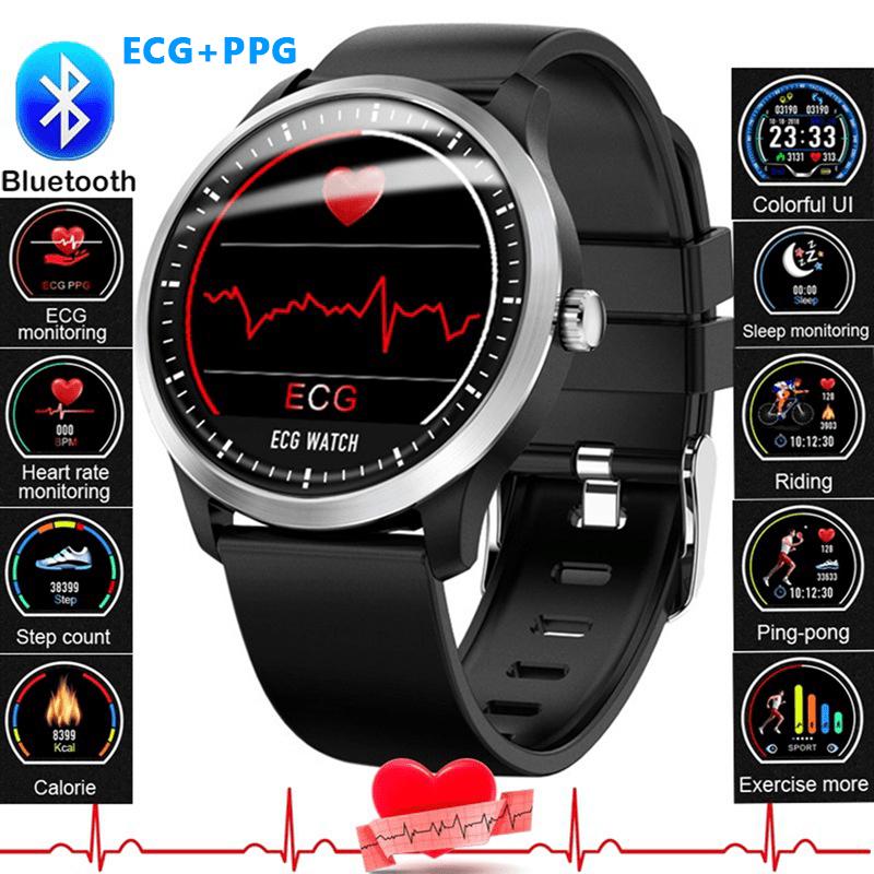 Smartwatch EKG PPG Armband Pulsuhr Sportuhr Herzfrequenz Blutdruck Schrittzähler