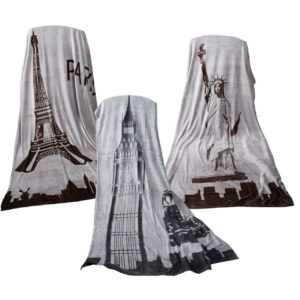 "Flanell Fleece Decke ""Out Burner"" 150 x 200 cm im Design New York,"