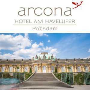 Kurzreise Potsdam Hotel arcona AM HAVELUFER Zentrum 3-5 Tage + Abendmenü + Sekt