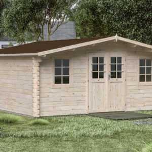 44 mm Gartenhaus Gera 9 Gerätehaus ca 500x500 cm Blockhaus Holzhaus Schuppen