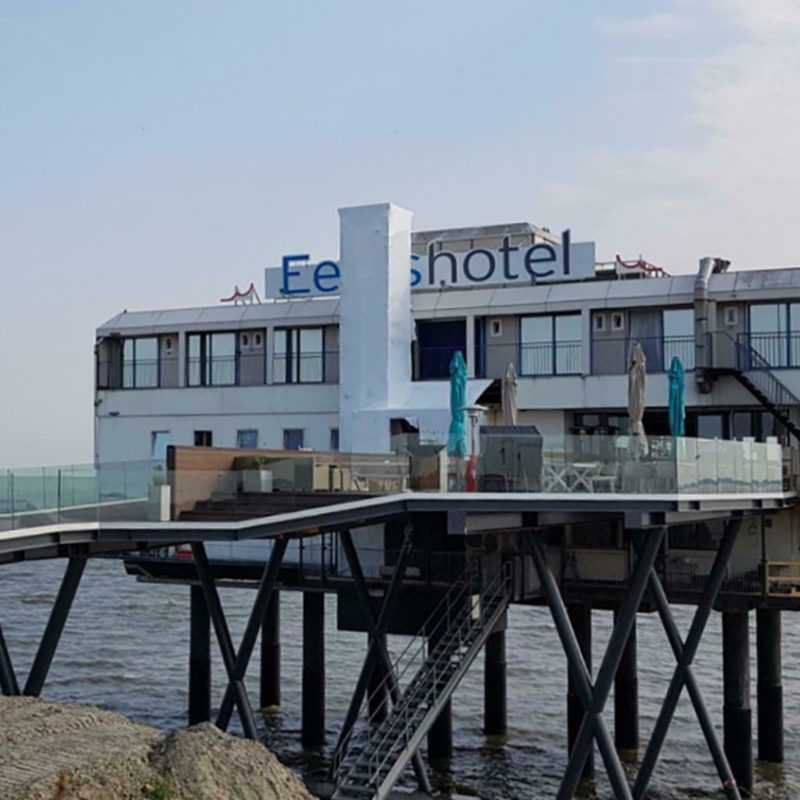 Nordsee Groningen Holland Hotel im Meer auf Stelzen Gutschein 2 Pers. 2 Nächte