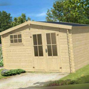 Gartenhaus ca. 400x400 cm Gerätehaus Blockhaus Schuppen Qualität Holz 28 mm