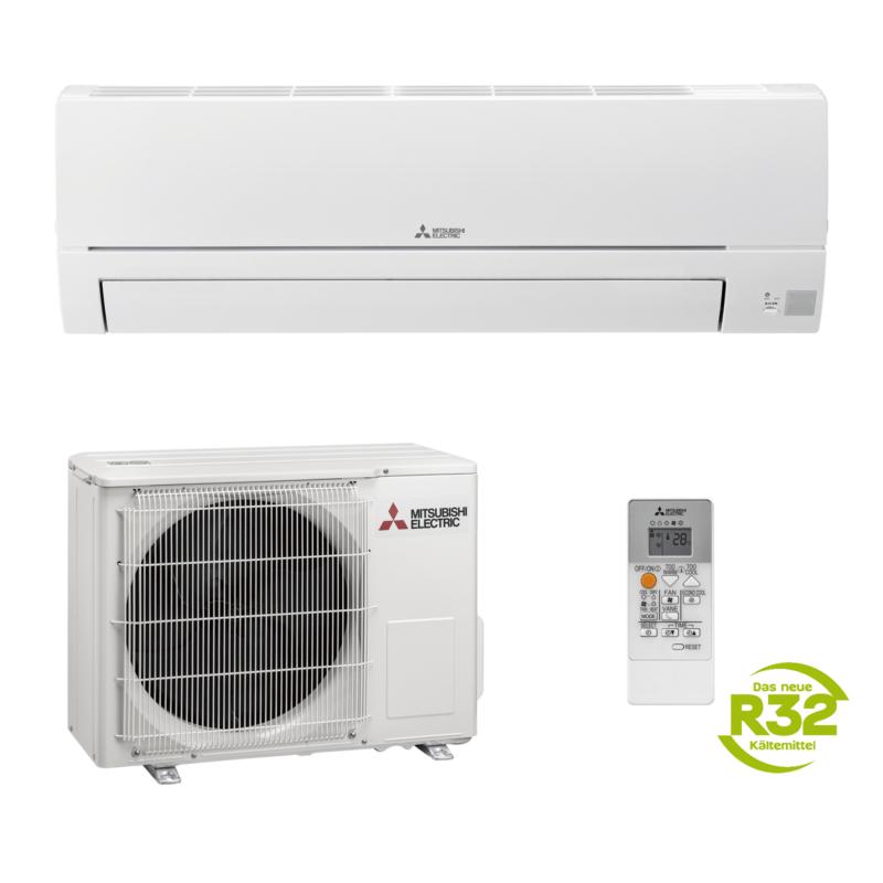 Mitsubishi MSZ-HR35VF 3,5 kW R32 Klimaanlage Inverter Wärmepumpe; EEK A