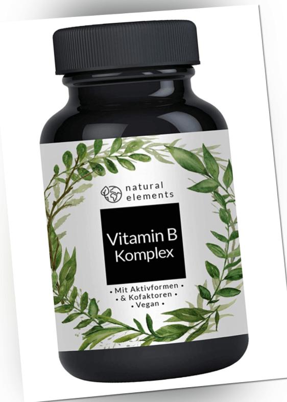 Vitamin B-Komplex Extra Hochdosiert Vegan Tabletten 180 Stück 6 Monatsvorrat OVP
