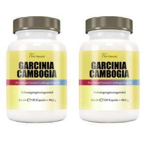 Garcinia Cambogia Pure Extrakt 3000mg Tagesdosis mit 60% HCA - 200 Kapseln