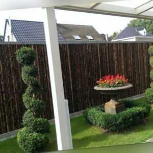 Sichtschutz BALI BLACK  Bambus Garten Gartenzaun Windschutz Sichtschutzmatte