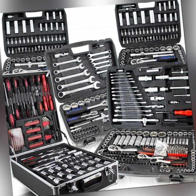 XXL Werkzeugkoffer Sets Nusskasten Steckschlüssel Knarrenkasten Bitsatz Bestückt