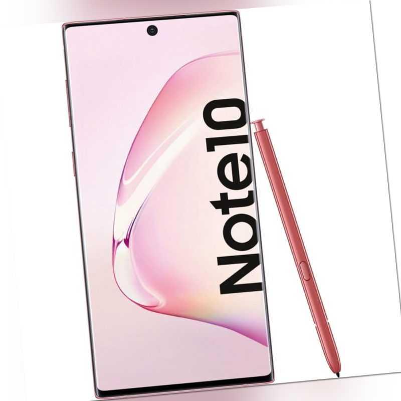 Samsung Galaxy Note 10 N970 Dual Sim Smartphone Handy 256GB  Pink ...