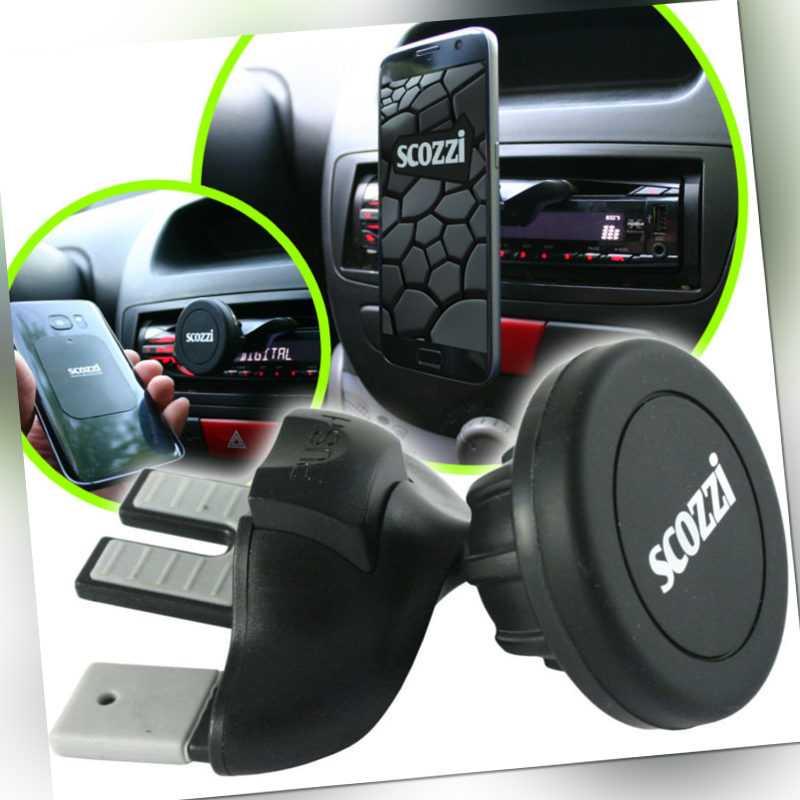 scozzi 360° universal KFZ CD Schlitz Halterung Magnet Halter Handy Navi PKW Auto