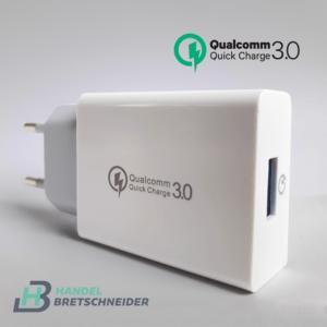 Quick Charge 3.0 Ladeadapter Mini Netzteil 3.5A Schnell USB Ladegerät für Handy