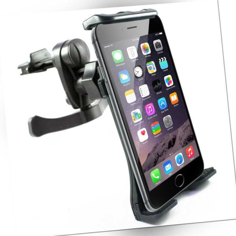 scozzi® Handyhalterung Auto Lüftungsgitter Tablet KFZ Halter Smartphone Lüftung