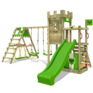 FATMOOSE Spielturm Klettergerüst BoldBaron Boost XXL Surf Garten Doppelschaukel