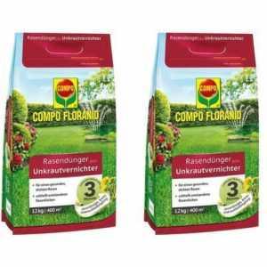 (4,37€/1kg) COMPO FLORANID® Rasendünger plus Unkrautvernichter 24 kg Dünger