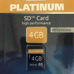 Platinum 4 GB SD FAT16 Speicherkarte 177106, kein SDHC