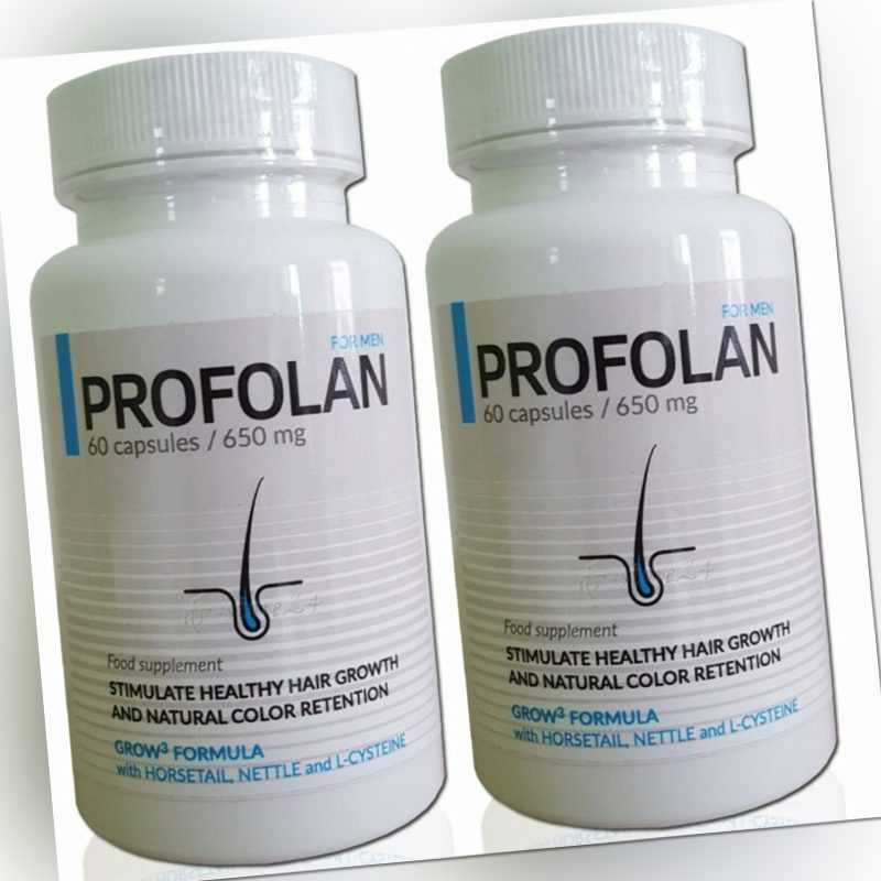 Profolan 2 x 60 Kapseln Nahrungsergänzungsmittel bei Haarausfall Haarwuchsmittel