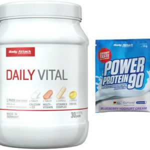 Body Attack Attack Daily Vital 30 Packs Mineralien Vitamine Multivitamin + Probe