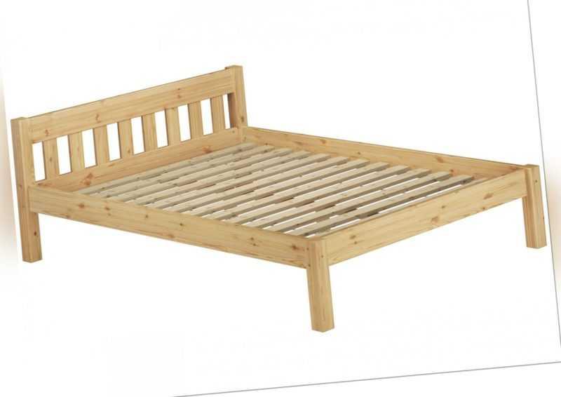 Doppelbett Französisches Bett 140x200 Bettgestell Kiefer massiv Rost 60.38-14