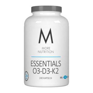 18,48€/100g More Nutrition ESSENTIALS O3-D3-K2 240 KAPSELN Fitness