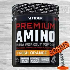 Weider Premium Amino Powder 800g Dose 25,61 €/kg + Bonus / EAAs BCAAs Glutamin