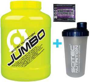 Scitec Nutrition Jumbo Mass Gainer 4400 g Weight Gainer Protein + Shaker
