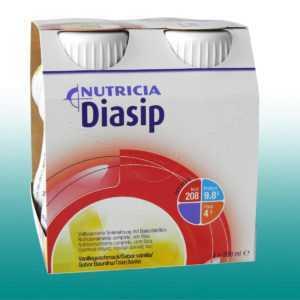 Diasip Vanille Nutricia Trinknahrung Diabetes mellitus,Hyperglykämie 6x4x200ml