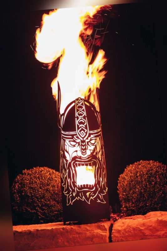 Edelrost Feuerkorb Rangnarök Feuerstelle Feuerschale Dekoration Garten Terrasse